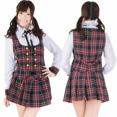アイドル風衣装は3Lや4Lの大きいサイズですので男性の方の女装や忘年会の余興(ゲーム)にぴったりです。