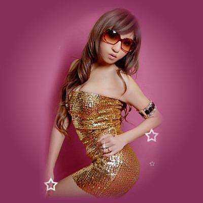 ゴールドスパンコールのボディコンドレス | ゴールドワンピース の衣装